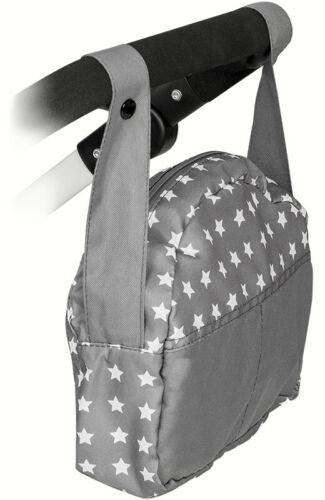 Bayer Chic 2000 Wickeltasche für Puppenwagen Sternchen Grau-Weiß