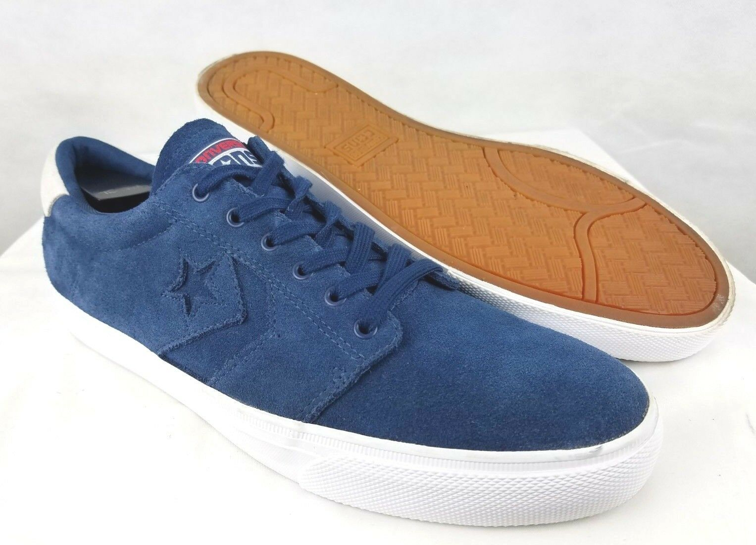 Converse Cons One Star Skateboarding Chaussures Suede Bleu Homme