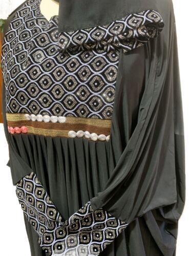 """56/"""" Burqa 54/"""" 58/"""" papillon Dernier Design Dubai Abaya Farasha"""
