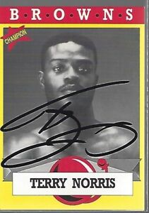 Terry Norris Autographed 1993 Browns Boxing Card COA