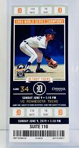 2019-Detroit-Tigers-Ticket-Stub-1984-World-Series-Champions-Tom-Brookens