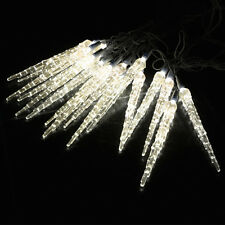 10 METRE CHRISTMAS ICICLE LIGHTS FROZEN LED ICICLES DROP EFFECT XMAS WARM WHITE