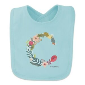 Baby bib with /'C/' initial