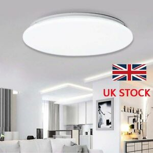Bright-Round-LED-Ceiling-Down-Light-Panel-Wall-Kitchen-Bathroom-Lamp-Cool-White