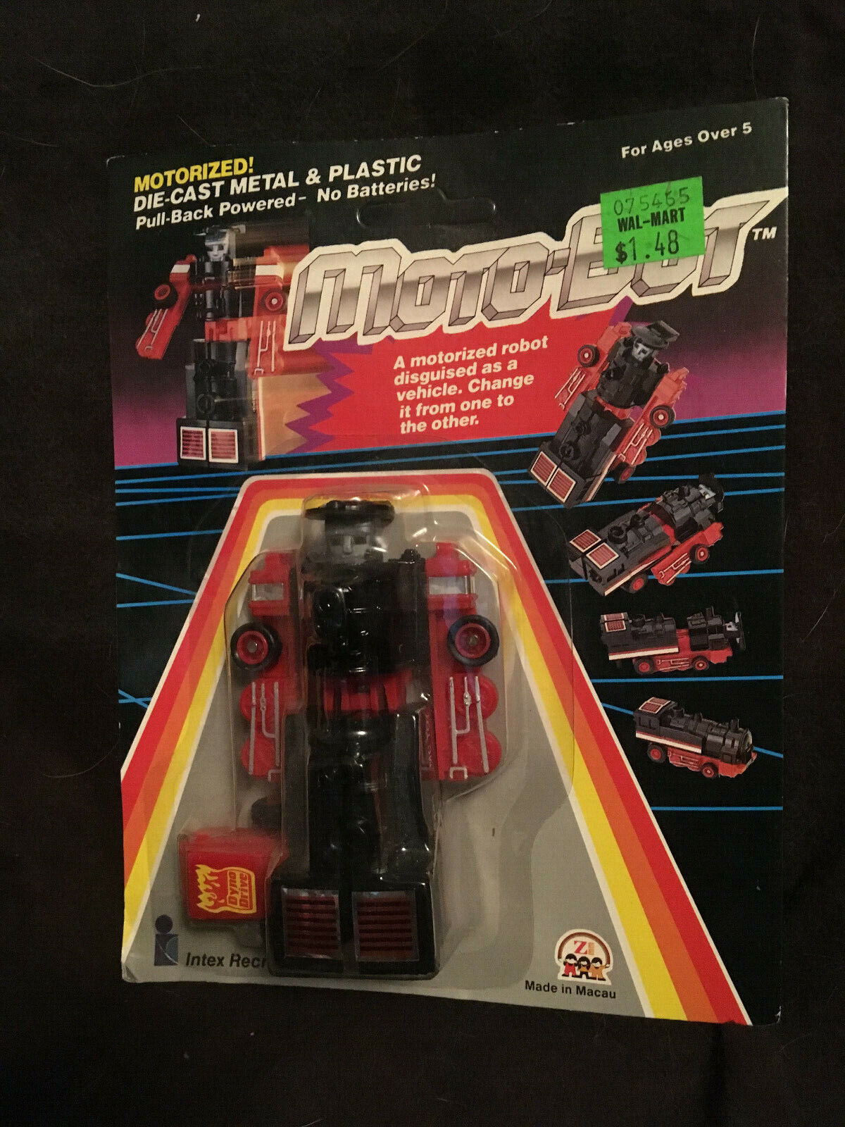MOTORIZED ROBOT   TRAIN   1984 INTEX   DynaBot MotoBot Transformers Gobot 29583