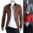 Mens Stylish Slim Fit Two Button Stylish Business Casual Blazer Jacket Suit Coat