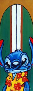 Lilo-and-Stitch-Surfin-Stitch-Tim-Rogerson-Disney-NEW-Canvas-LE-20-Signed-Giclee