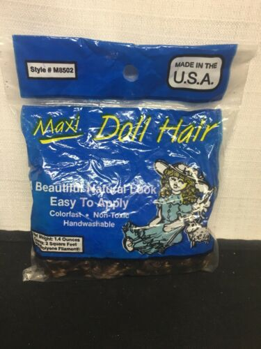 T Brown Factory Sealed Made in the USA Maxi Doll Hair 1.4 Oz