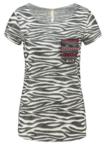 Key Largo T-shirt Femmes Explore Round Col Rond Manches Courtes Camouflage wt00161