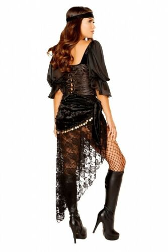 Gypsy Costume Fortune Teller Roma Carnival Black Large Selection New USA