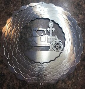 Antique-Automobile-11-034-Silver-Light-Refractor-Wind-Spinner-New