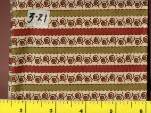 Red Flowers Circle Flower Stripes Fat Quarters  #3-15 thru 3-25