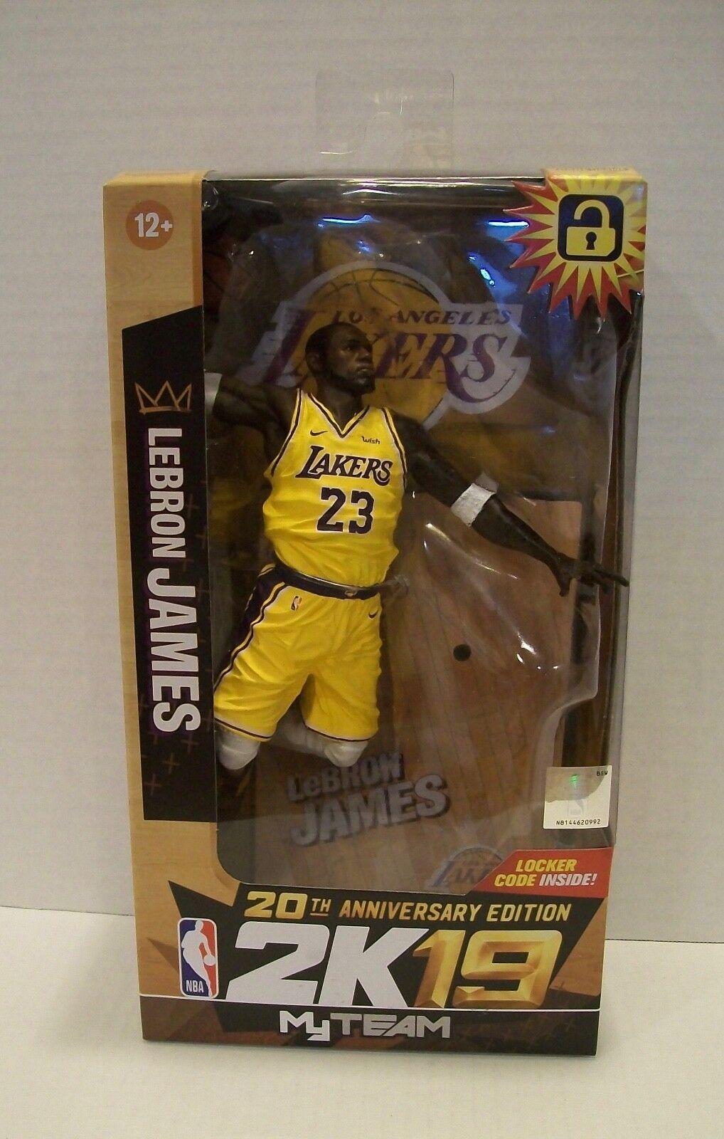 McFarlane LeBron James Lakers Figure 20th Anniversary NBA2K19 Walgreens Variant