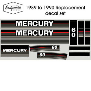 Mercury-Outboard-decals-1990-60hp-Replacement-decals