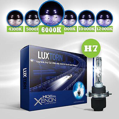 LUXTORN  XENON HID CONVERSION KIT H7 6000K CAR BULBS HEADLIGHT HEADLAMP OEM