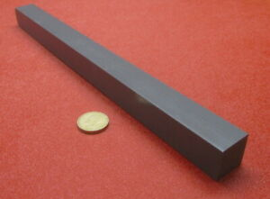 "HDPE Bar Black .250/"" Thick X 1.0/"" Wide X 48/"" Length 10 Pieces"