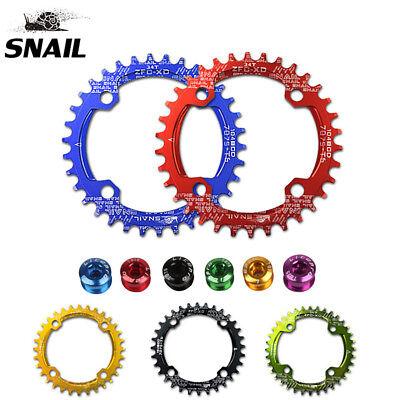 SNAIL 104BCD VTT Plateau de vélo simple ovale/pignon rond 32/34/36/38/40/42T  | eBay