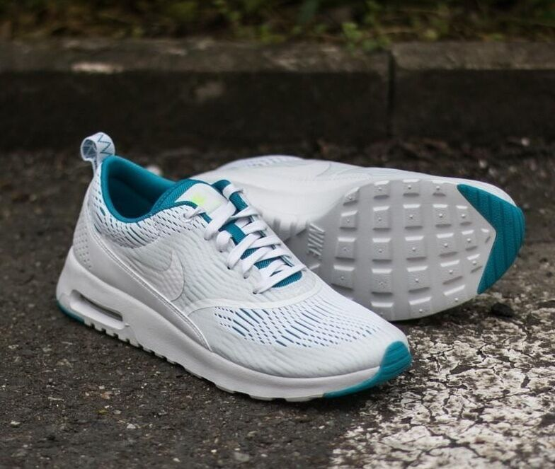 NIKE Air White Max Thea EM Running White Air Blue Lagoon Ghost Green 833887 100 Wmn 7 9 * 6619b4