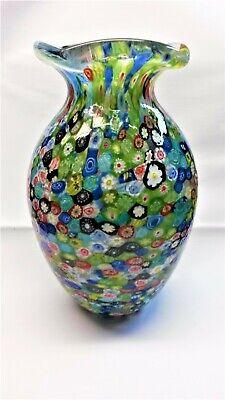 Clever Vt6732-a1- Vaso Mit Murrine Colorato Ca. 26 Cm Aus Glas Delikatessen Von Allen Geliebt