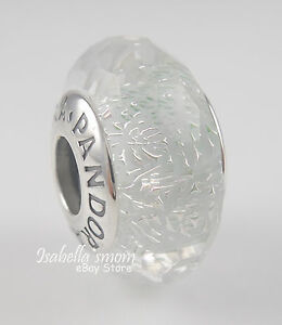 b247a73ab Image is loading FROSTY-MINT-SHIMMER-Genuine-PANDORA-Silver-White-MURANO-