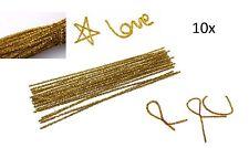 10 X STRISCE SNODABILI METALLICHE ORO addobbi decorazioni natale albero dorate