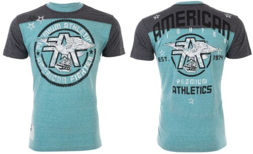 AMERICAN FIGHTER Mens T-Shirt MISSOURI Athletic SEAFOAM Biker Gym MMA UFC $40