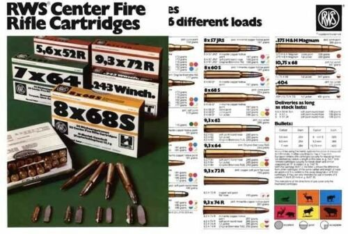 RWS 1978 CF Cartridges Flyer