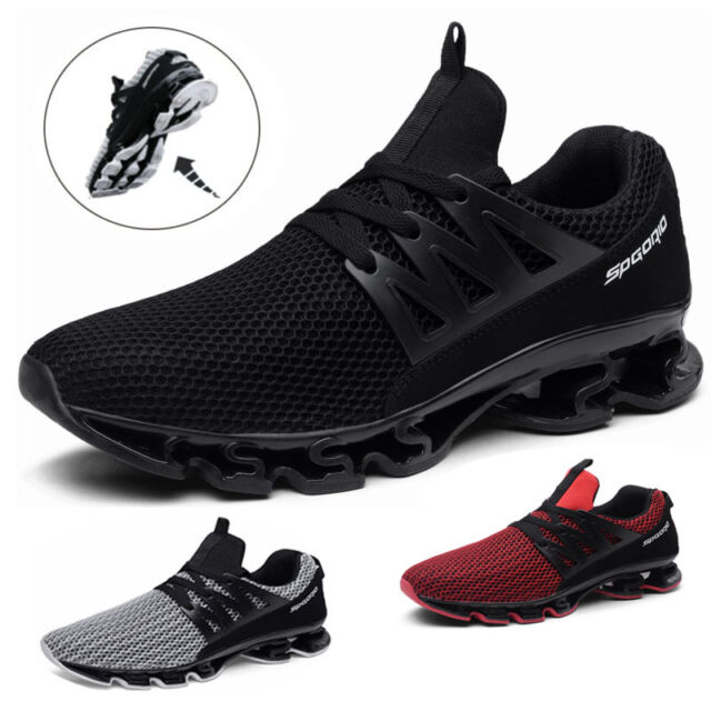 Mens Running Trainers Stylish Gym Outdoor Sports Sneakers Shoes Breathable Size