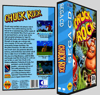 Chuck Rock - Sega Cd Reproduction Art Dvd Case No Game