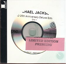 michael jackson bad 25th anniversary deluxe edition 3x cd  1x dvd limited