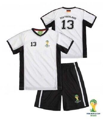 Fifa Calcio Wm 2014 Bambini T-shirt Bermuda Pantaloni Germania Maglia Set 92 98-mostra Il Titolo Originale