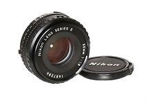 Nikon Series E 50mm 1:1,8 Pancake Standardobjektiv mit manuellem Fokus