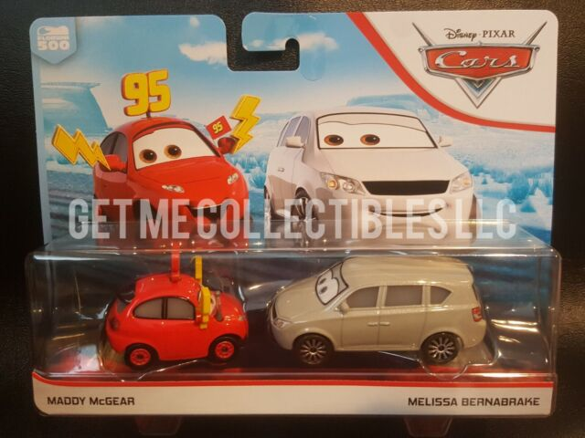 Disney Cars 3 Diecast 1 55 Scale Movie Moments 2 Pack Maddy Mcgear Melissa Burn For Sale Online Ebay