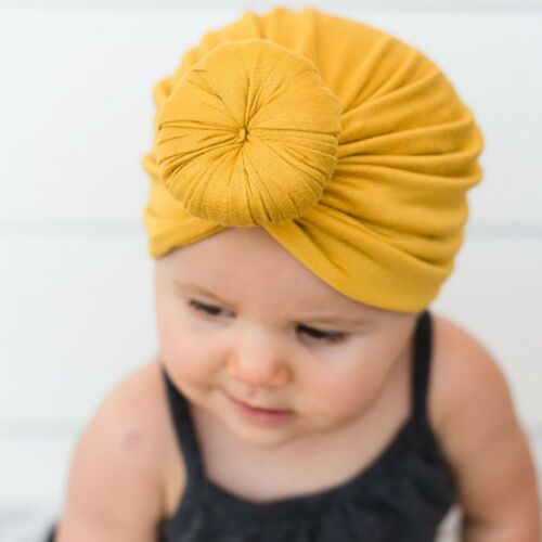 New Toddler Kids Baby Boy Girl Indian Turban Knot Cotton Beanie Hat Caps
