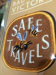 SAFE-TRAVELS-Bee-GARDEN-Badge-yard-PATCH-Victory-Pollinator-Friendly-Made-Oregon