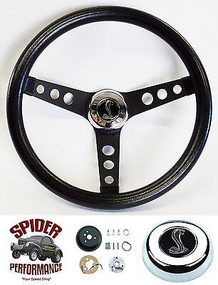 """1974-1977 Mustang 2 steering wheel COBRA 13 1//2/"""" CLASSIC CHROME steering wheel"""