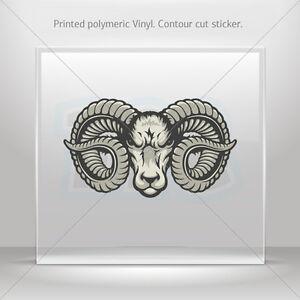 Ram Head Aries Bighorn Sheep Car Sticker