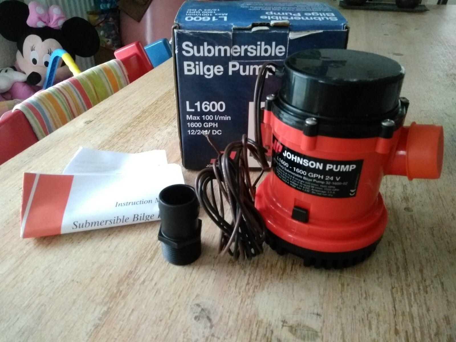 Submersible Bilge Pump L1600 1600 GPH  12/24 V V V DC Max 100l min Tauch Pumpe Stiefel 5a458d