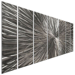 Metal Wall Art Sculpture Radiate Silver Contemporary Modern Home Decor Ash Carl