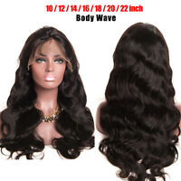Indian Remy Virgin Human Hair Wig Body Wave 4*4 Silk Top Full Lace Wigs Natural