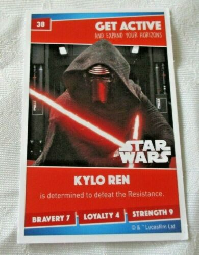 No 38 KYLO REN SAINSBURYS HEROES TRADING CARD