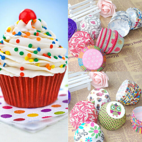 100Pcs//Set Colorful Rainbow Paper Cake Cupcake Liners Baking Muffin Cup Case