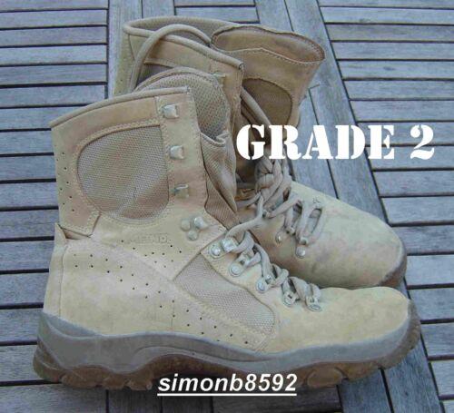 UK BRITISH ARMY SURPLUS G2 MEINDL renard du désert boot bottes de combat Tan en cuir et daim