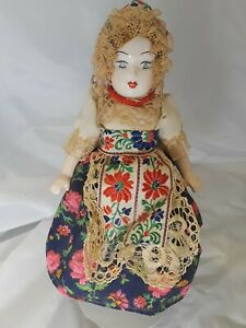 Glazed-Porcelain-Ethnic-Doll-10-034-Tall