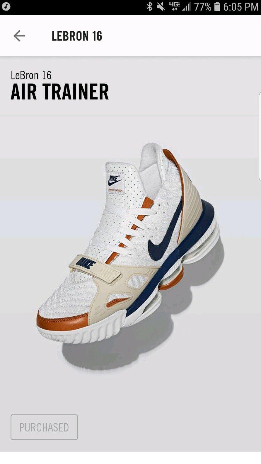 2019 Nike LeBron 16 Air Trainer 'Medicine Ball' CD7089-100SIZE 12 BO DeadStock