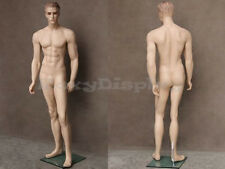 Male Realistic Fiberglass Molded Hair Manikin Mannequin Display Dress Form #WEN3