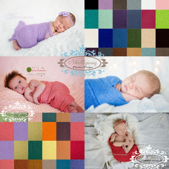 Newborn Baby Stretch Textured Knit Rayon Wrap Cocoon Photo Photography Props
