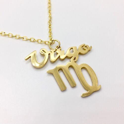 Signo del zodíaco collar virgen remolque Virgo signos del zodíaco Gold Mode 52cm