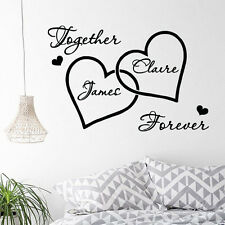 Love Heart Custom Couple Name Wall Sticker Romantic Bedroom Decorative Decal