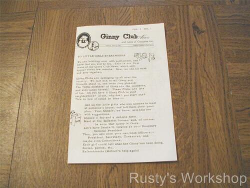 Reproduction 1950/'s VOGUE doll 1st Ginny NEWSLETTER    4 Sided